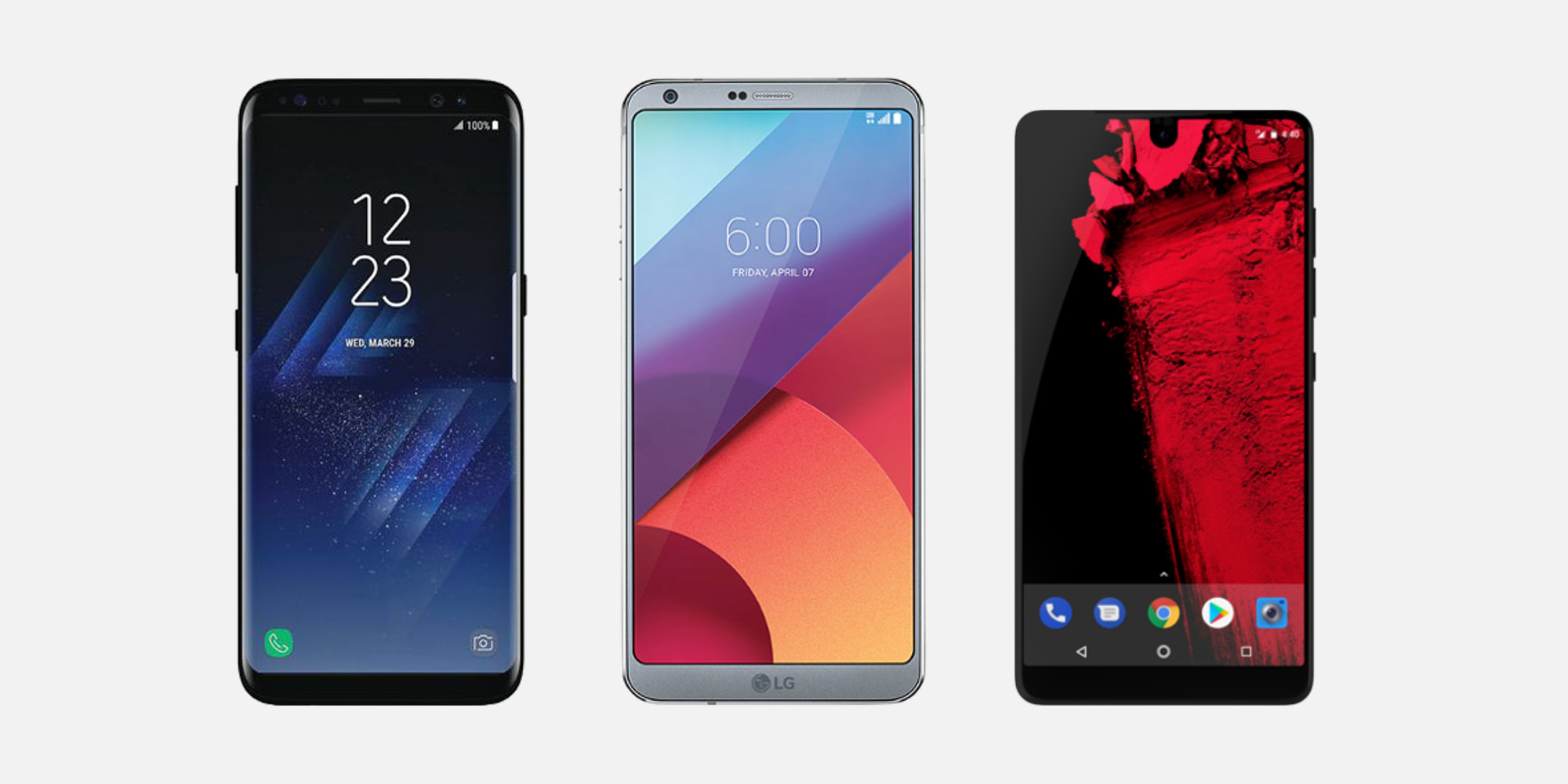 Samsung g5, LG L6 and PH-1